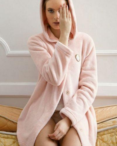 Плюшевый халат - розовый Gisela
