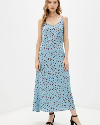 Голубое платье-комбинация Zibi London