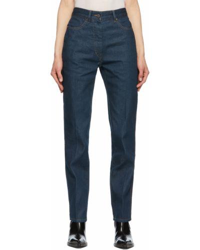 Mom jeans bawełniane - niebieskie Lemaire