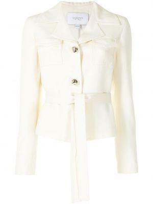 Белый удлиненный пиджак с карманами на пуговицах Giambattista Valli