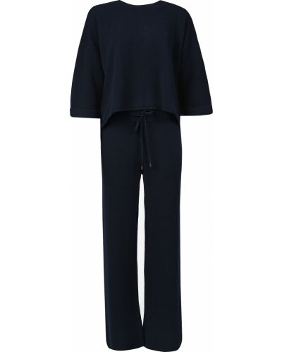 Шелковый костюм - синий Peserico