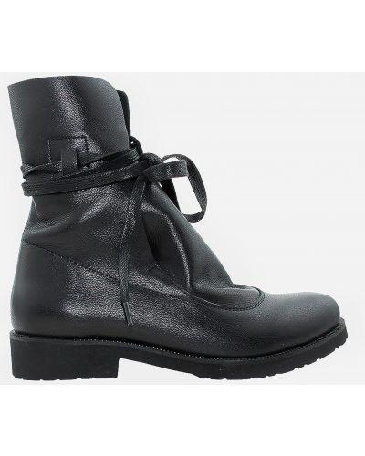 Кожаные ботинки - черные Carvallio