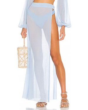 Плиссированная юбка с запахом прозрачная Lovewave