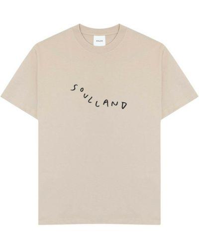 Beżowa t-shirt Soulland