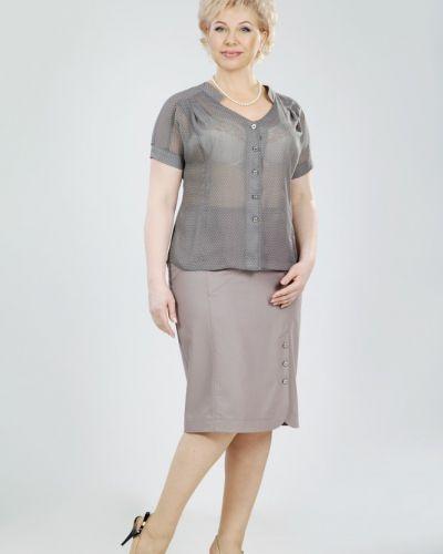 Блузка из вискозы - розовая Petro Soroka