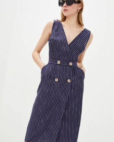 Синее платье с запахом Ora