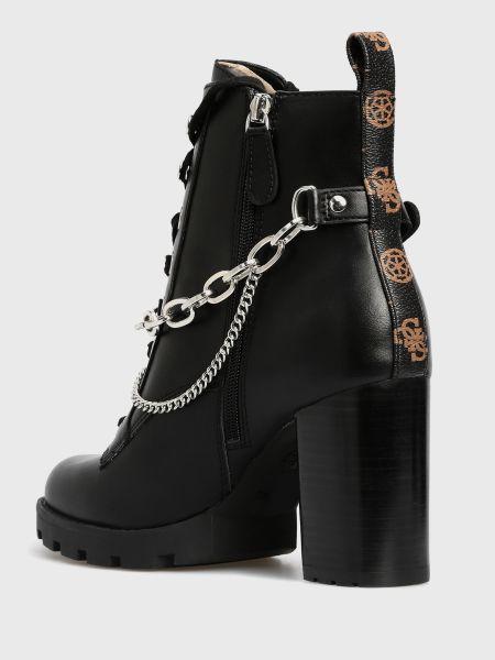 Черные ботинки Guess
