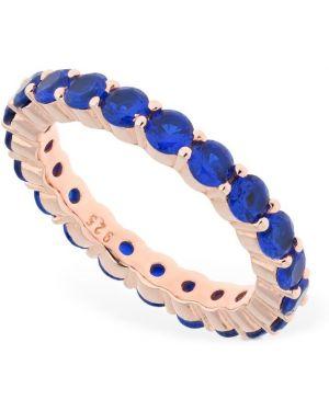 Niebieski złoty pierścionek z cyrkoniami Talita