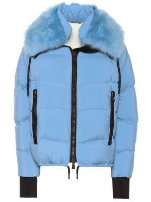 Куртка с опушкой с цветочным принтом Moncler Grenoble