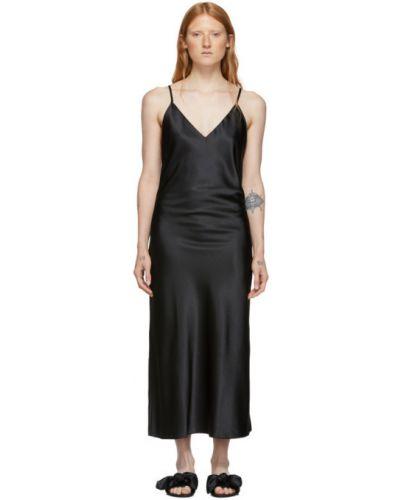 Złota czarna sukienka bez rękawów Le Petit Trou