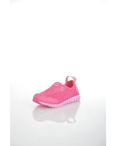 Кроссовки на платформе розовый текстильные Strobbs