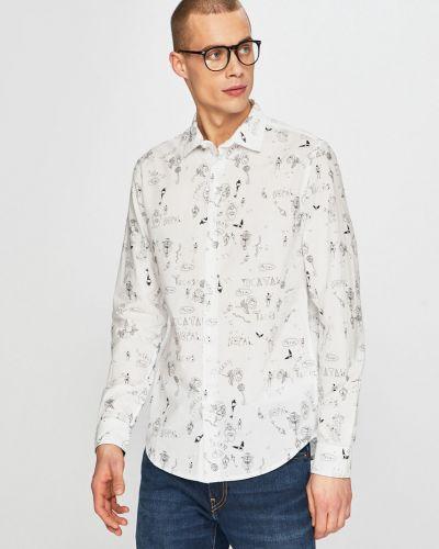 Рубашка с длинным рукавом хлопковая на пуговицах Desigual