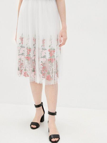 Плиссированная юбка белая весенняя Nothing But Love