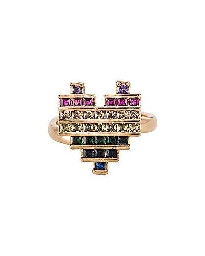 Złoty pierścionek pozłacany vintage Anton Heunis