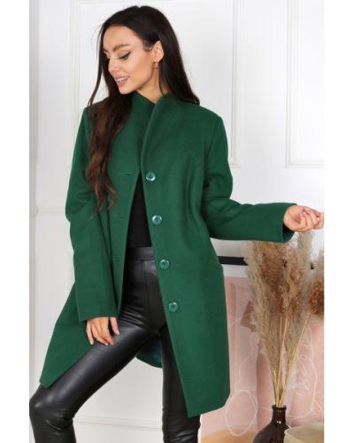 Płaszcz wełniany - zielony Merce