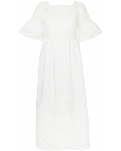 Платье с кружевными рукавами со вставками Talitha