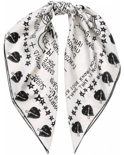 Белый платок из шелка Givenchy