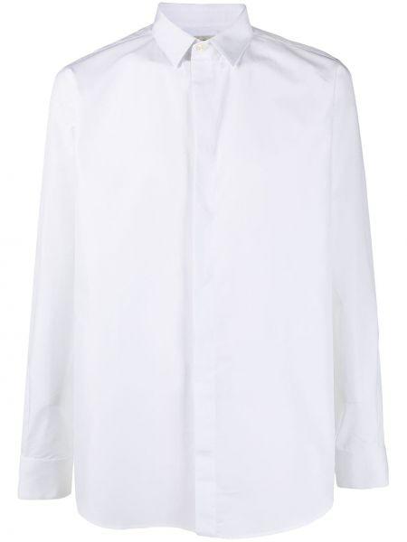 Bawełna z rękawami klasyczna koszula z mankietami Saint Laurent