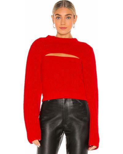 Trykotowy akryl pulower z długimi rękawami Selmacilek