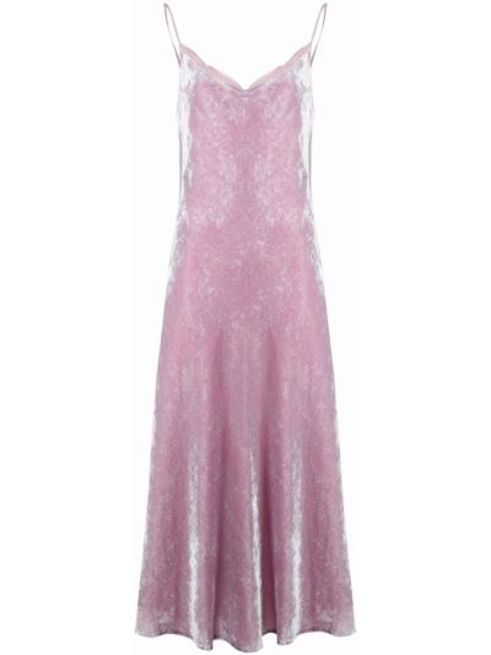 Шелковое платье - розовое Marc Jacobs
