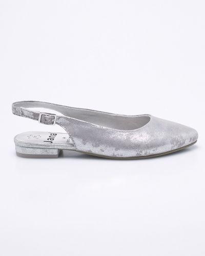 Сандалии текстильные серебряного цвета Jana
