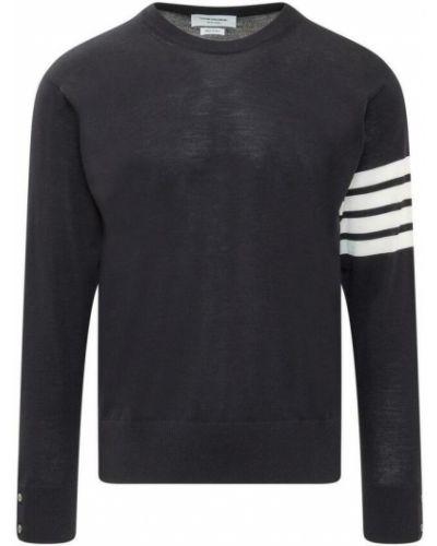 Niebieski klasyczny sweter Thom Browne