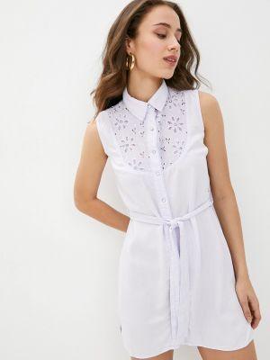 Фиолетовое платье рубашка D'she