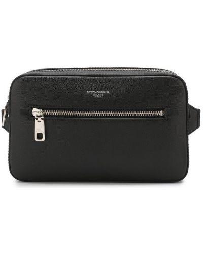 Поясная сумка спортивная кожаная Dolce & Gabbana