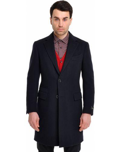 Пальто шерстяное черное Ermenegildo Zegna