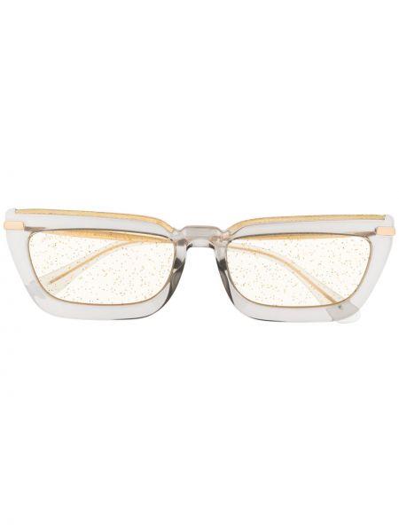 Солнцезащитные очки металлические хаки Jimmy Choo Eyewear
