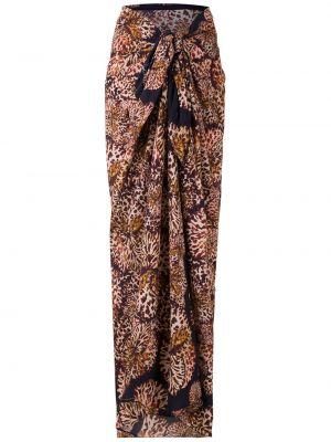 Пляжная коричневая хлопковая юбка Isolda