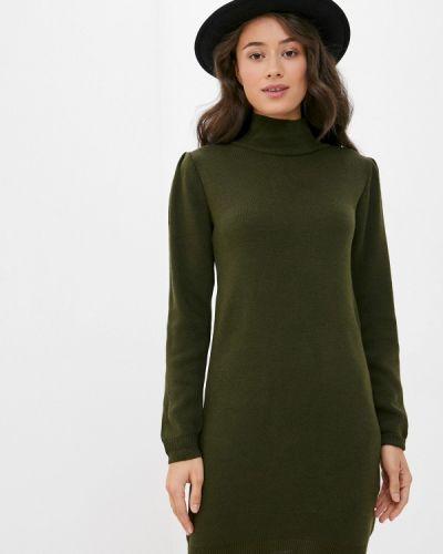 Трикотажное зеленое вязаное платье Trendyol