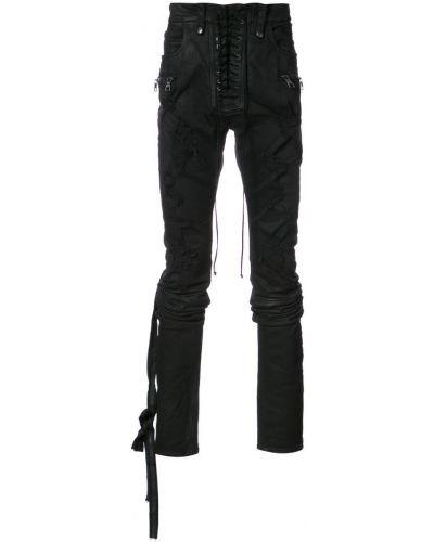 Брюки черные с карманами Unravel Project