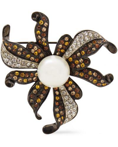 Broszka perły srebrna Kenneth Jay Lane