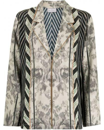 Черный пиджак длинный Pierre-louis Mascia