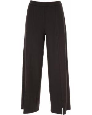 Czarne spodnie z wiskozy Fuzzi