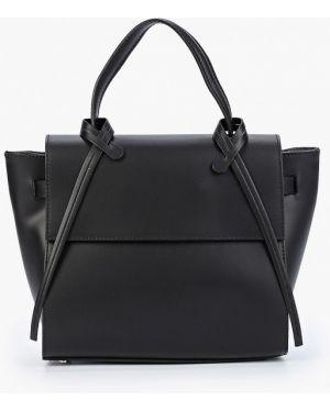 Кожаная сумка с ручками черная Giulia Monti