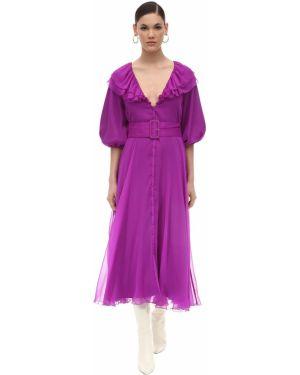 Платье миди на пуговицах с V-образным вырезом Rotate