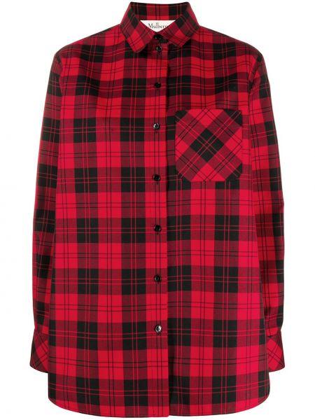 Классическая рубашка с воротником свободного кроя на пуговицах с карманами Mulberry