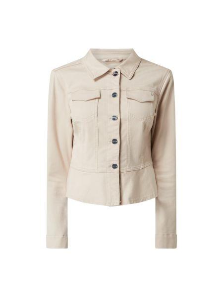 Beżowa kurtka jeansowa bawełniana Comma