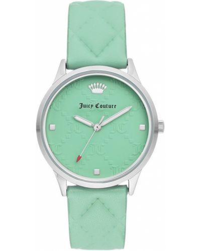 Zielony zegarek mechaniczny srebrny kwarc Juicy Couture