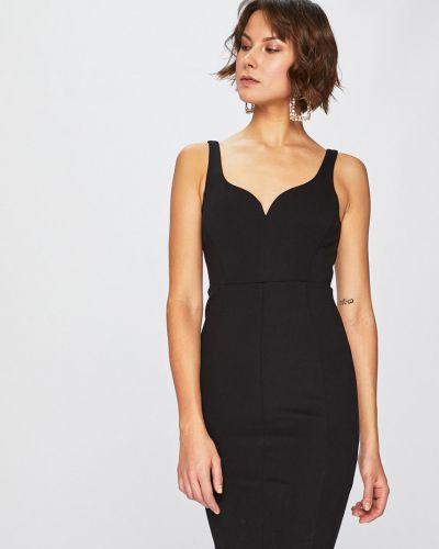 Облегающее черное платье мини эластичное Guess Jeans