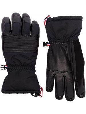 Ciepłe czarne rękawiczki Fusalp