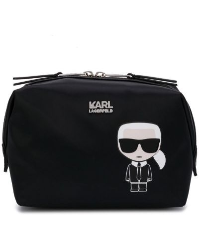 Косметичка черная на молнии Karl Lagerfeld