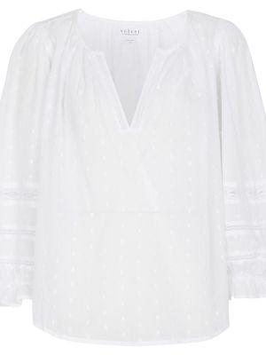 Biała bluzka z aksamitu Velvet