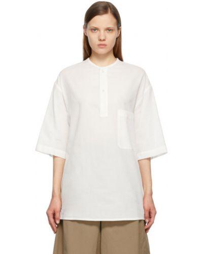 Biały t-shirt bawełniany krótki rękaw Lemaire