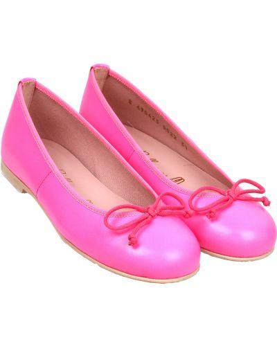 Розовые кожаные балетки Pretty Ballerinas