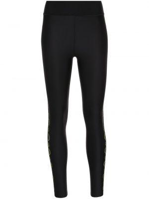 Czarne legginsy z wysokim stanem Ultracor