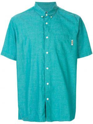 Рубашка с коротким рукавом - синяя Supreme