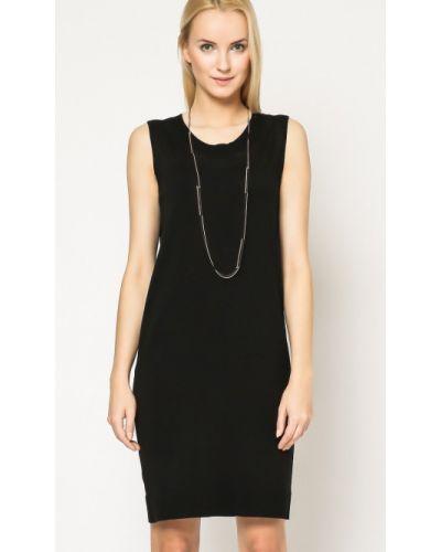 Czarna sukienka bawełniana Deni Cler Milano